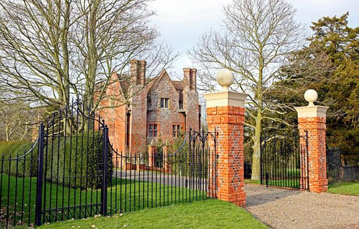 Guests have access to the historic gardens of Upton Cressett Hall