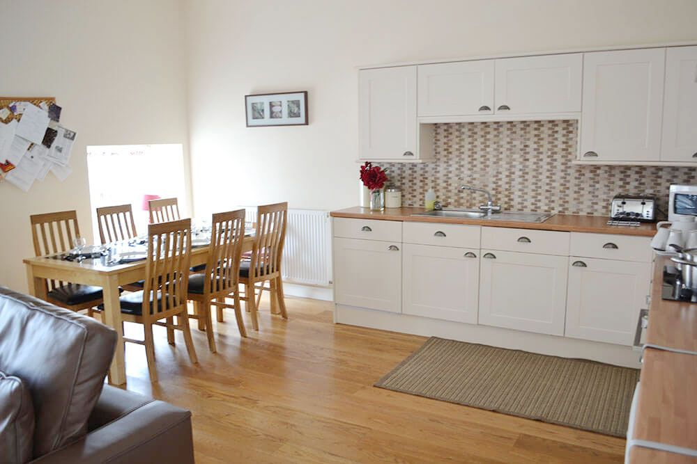 Ground floor dining and kitchen area in the spacious open plan living space