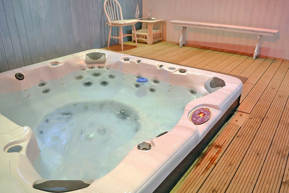 Guests at Tiarks have private access to a luxury heated hot tub in a separate building