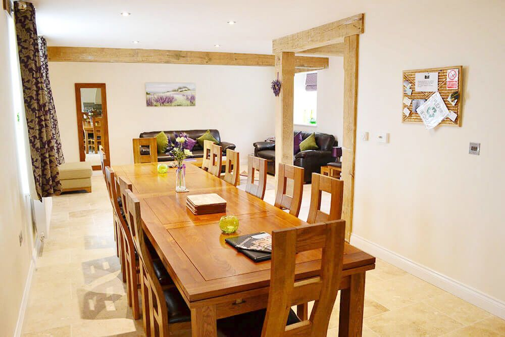 Ground floor: Dining and sitting areas in the spacious open plan living space