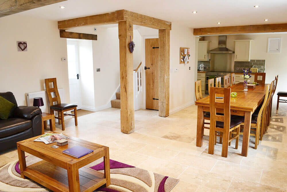 Ground floor: Sitting and dining areas in the spacious open plan living space