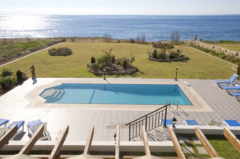 Sea Caves Villa Estia Pool, garden & sea views from master balcony