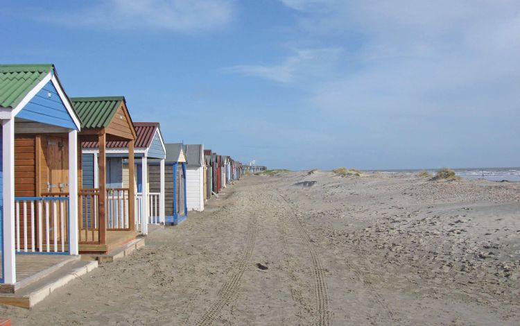 The beach huts at West Wittering