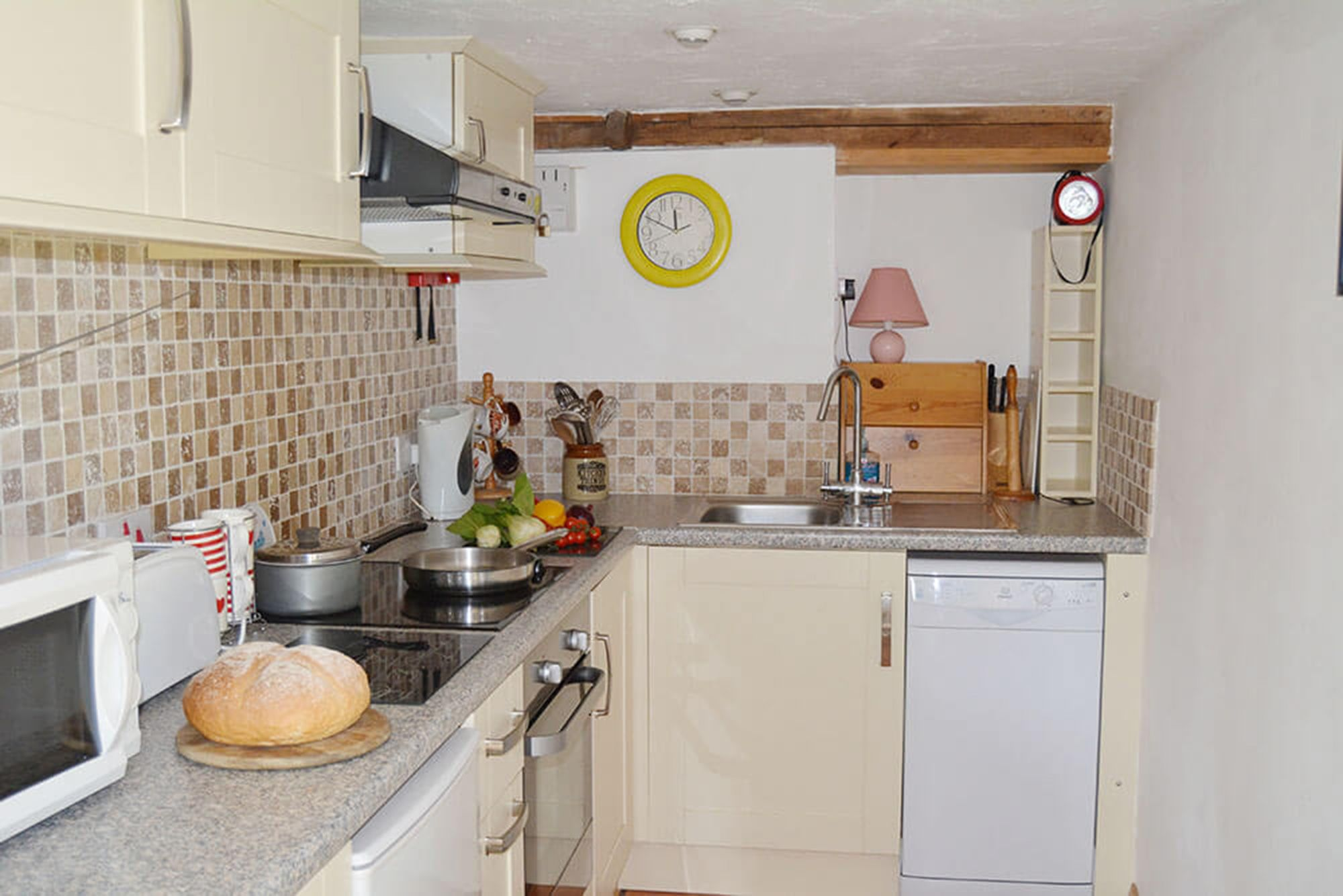 Smiddy ground floor: Fitted kitchen area in the spacious open plan living space