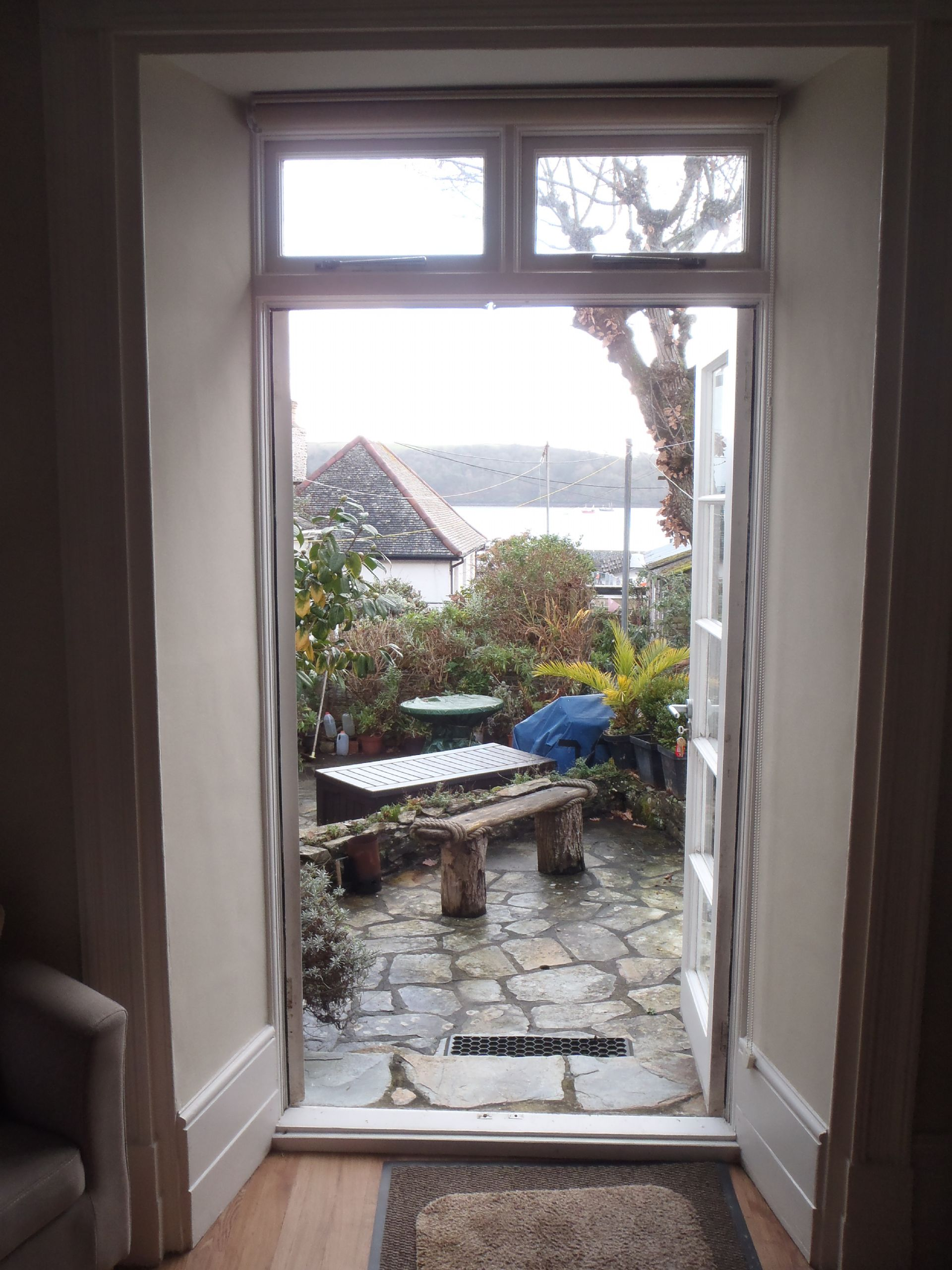 Buckingham Cottage, St Mawes, Patio access from Lounge