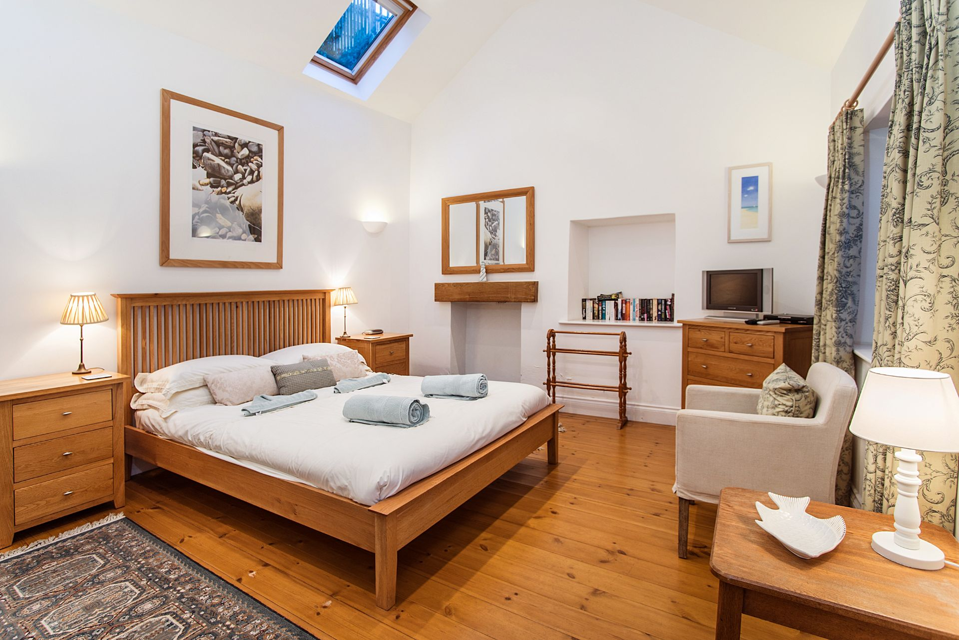 The Old Dairy; St Mawes; Ground Floor Double Bedroom