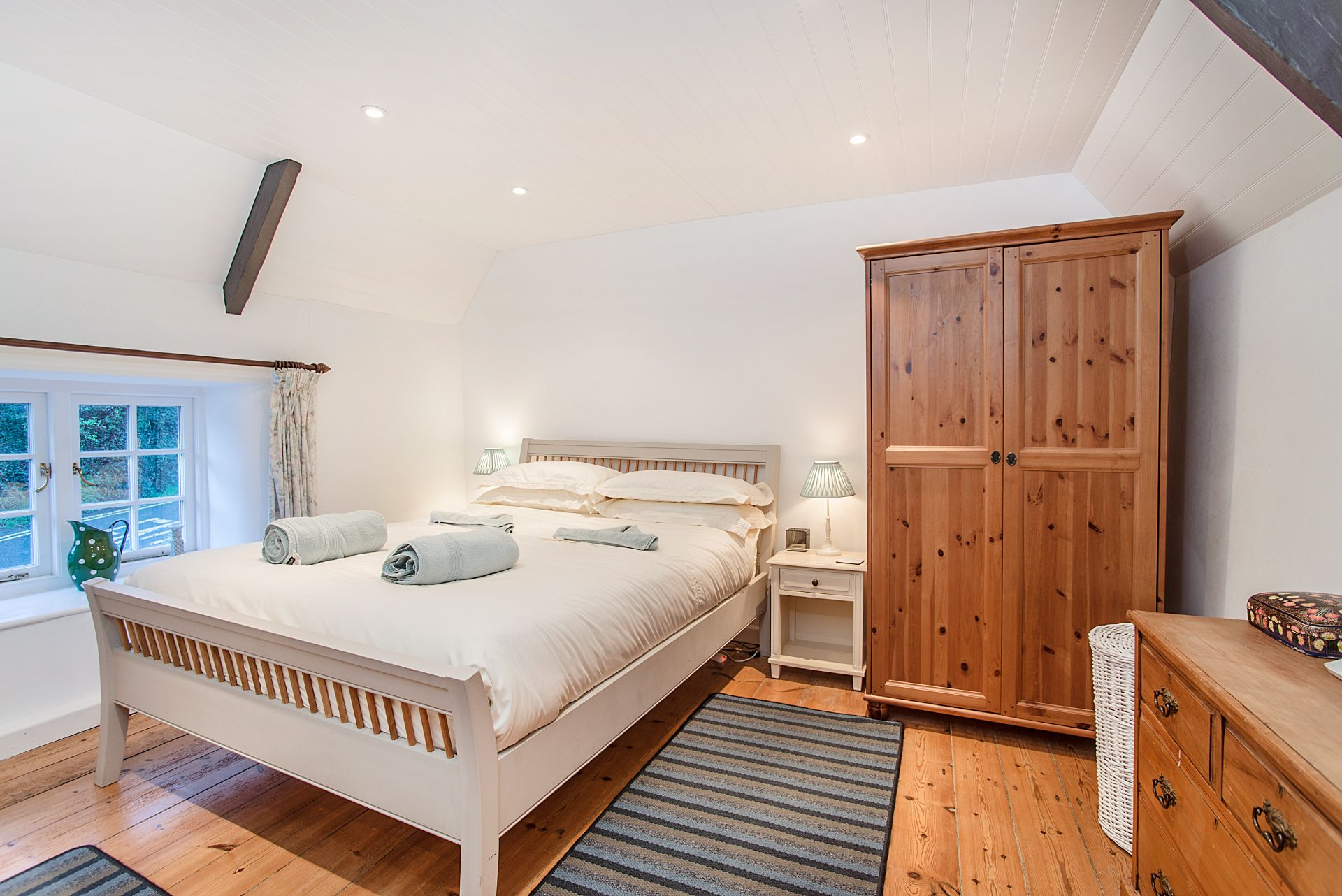 The Old Dairy; St Mawes; First Floor Double Bedroom