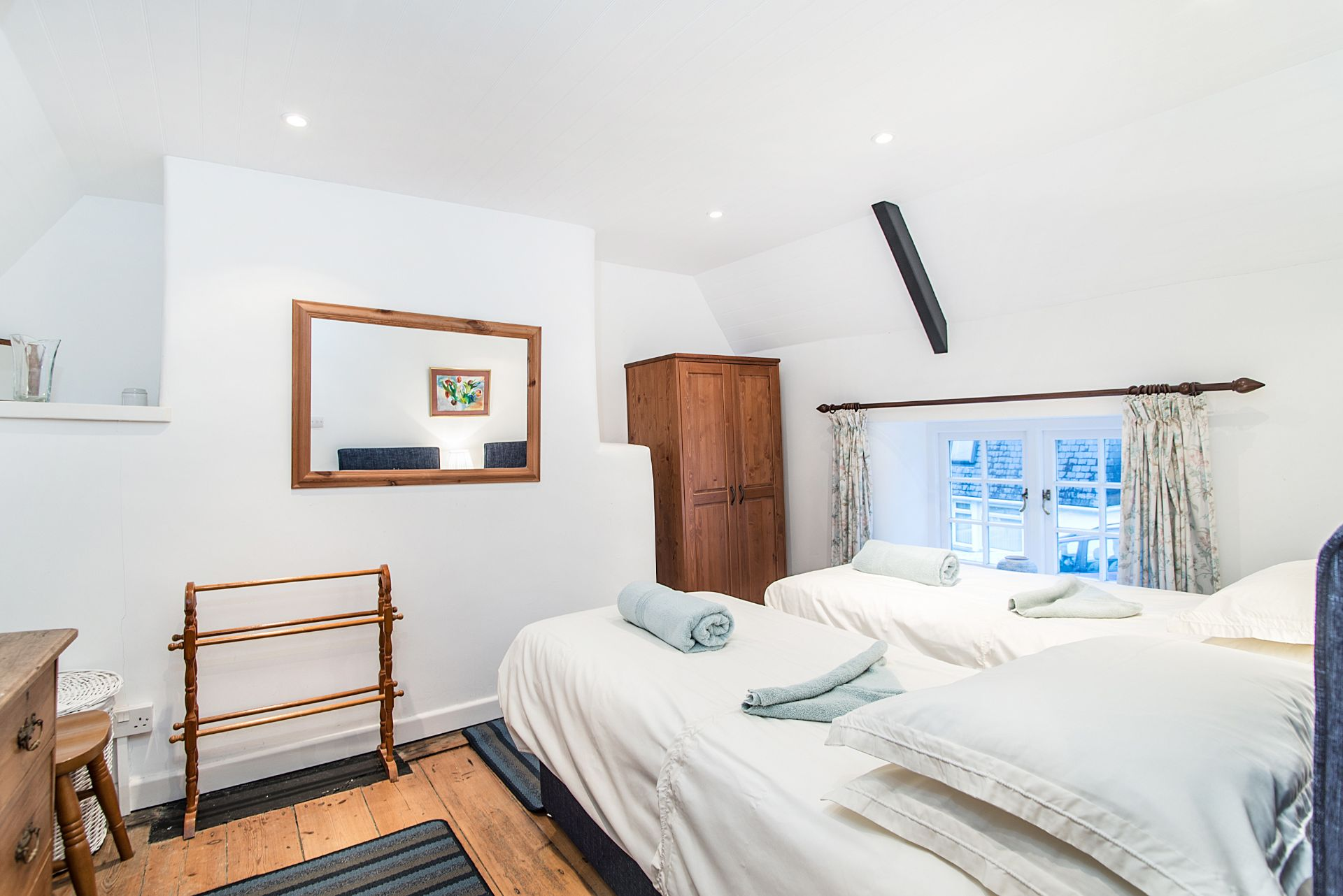 The Old Dairy; St Mawes; Twin Bedroom