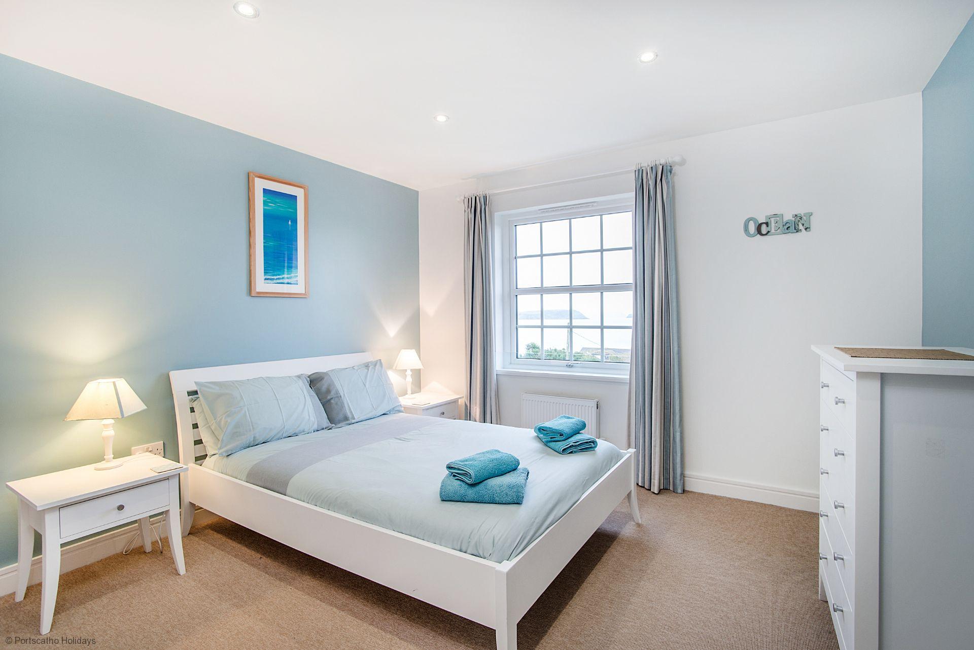 Seascape; Portscatho; Double Bedroom