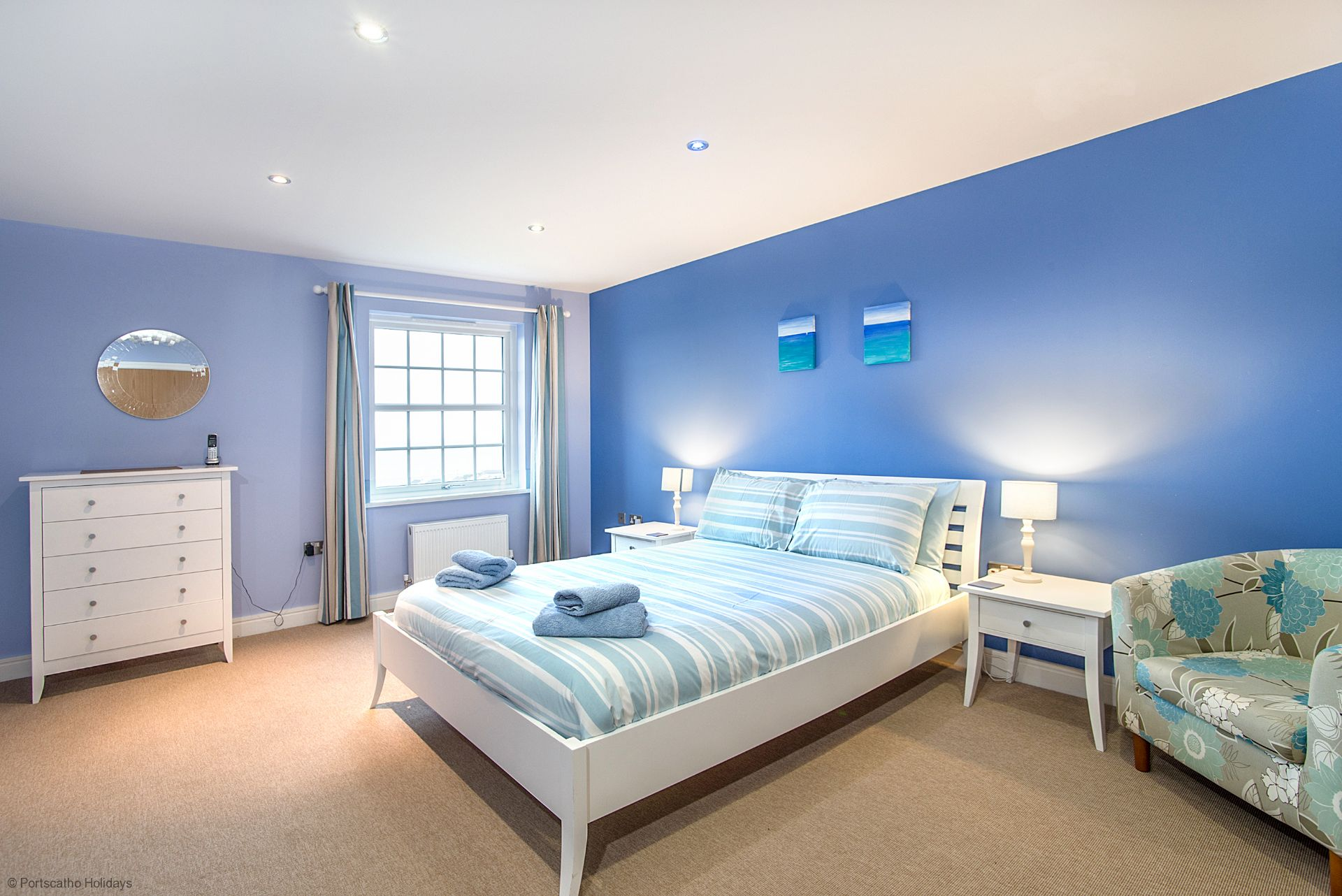 Seascape; Portscatho; Master Bedroom