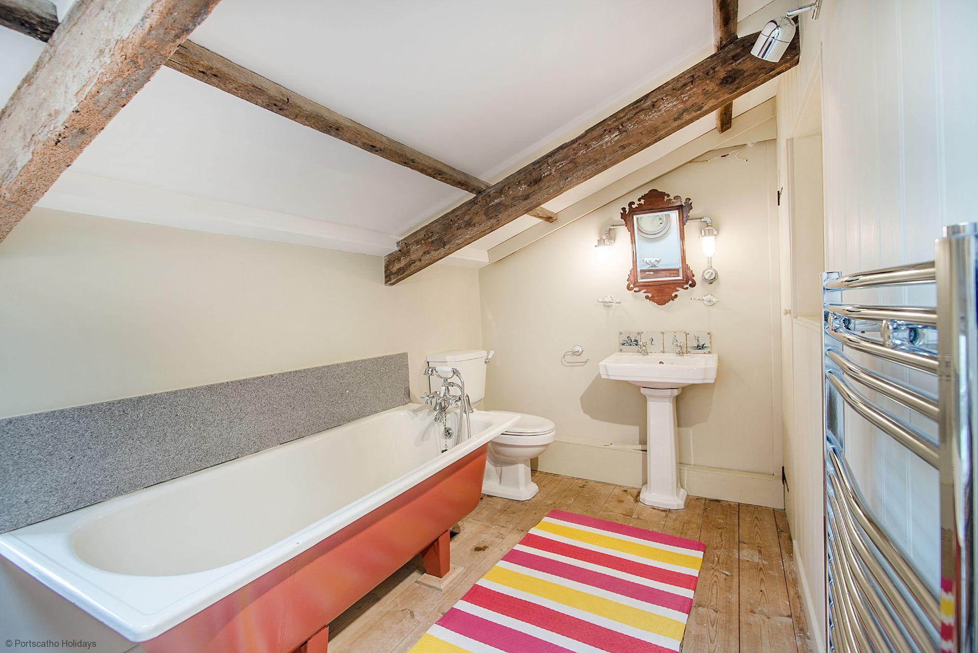 Penvar Cottage; Gerrans; Bathroom I