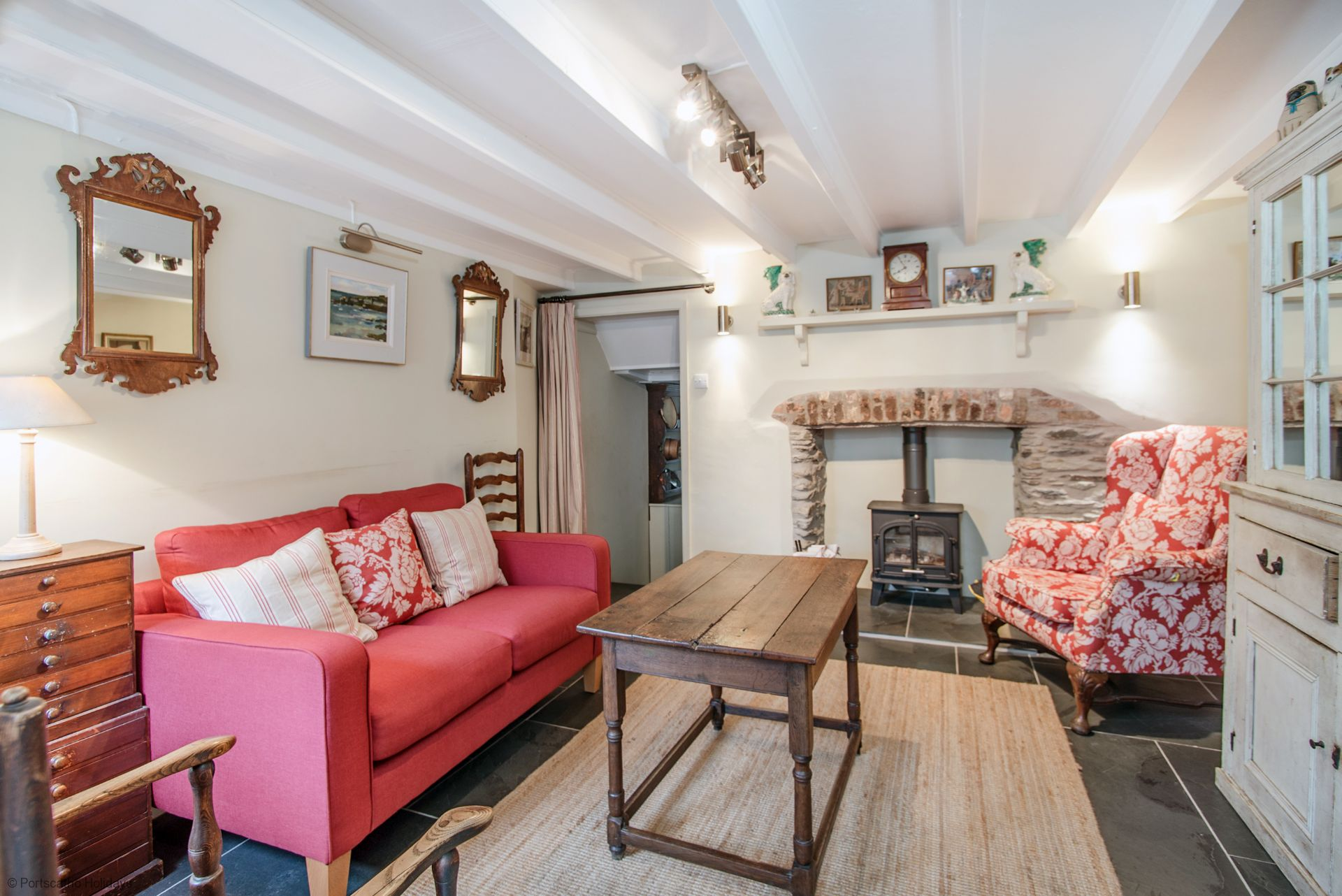 Penvar Cottage; Gerrans; Front Room