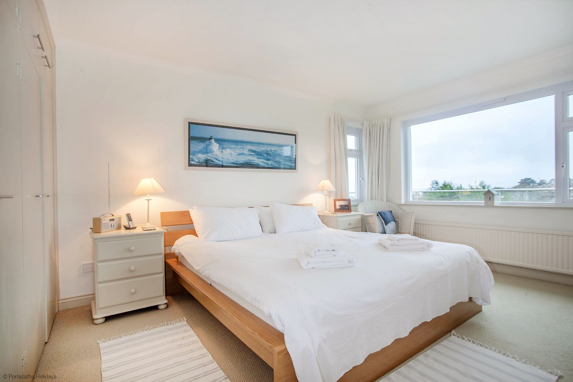 Poldhu; St Mawes; Master Double Bedroom