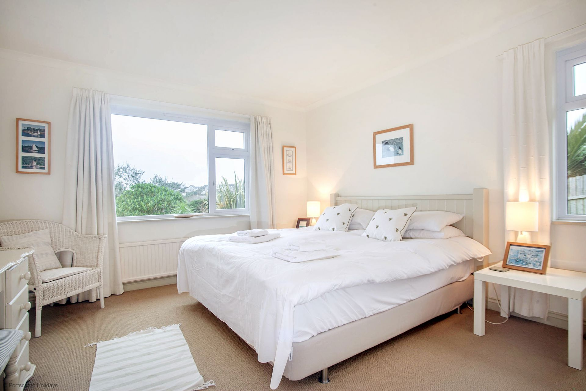 Poldhu; St Mawes; Double Bedroom