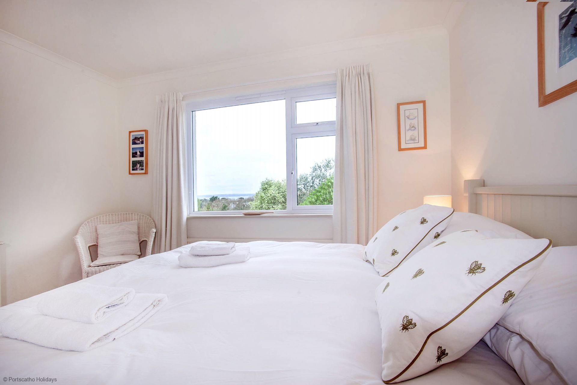 Poldhu; St Mawes; Double Bedroom View