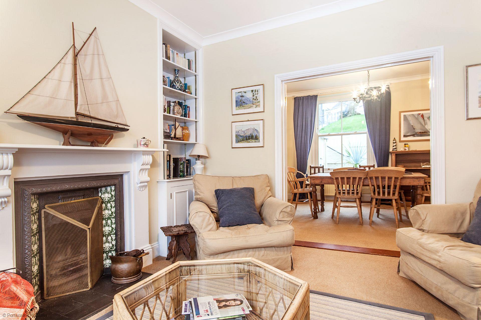 Trevellas; Portscatho; Lounge & Dinning Room