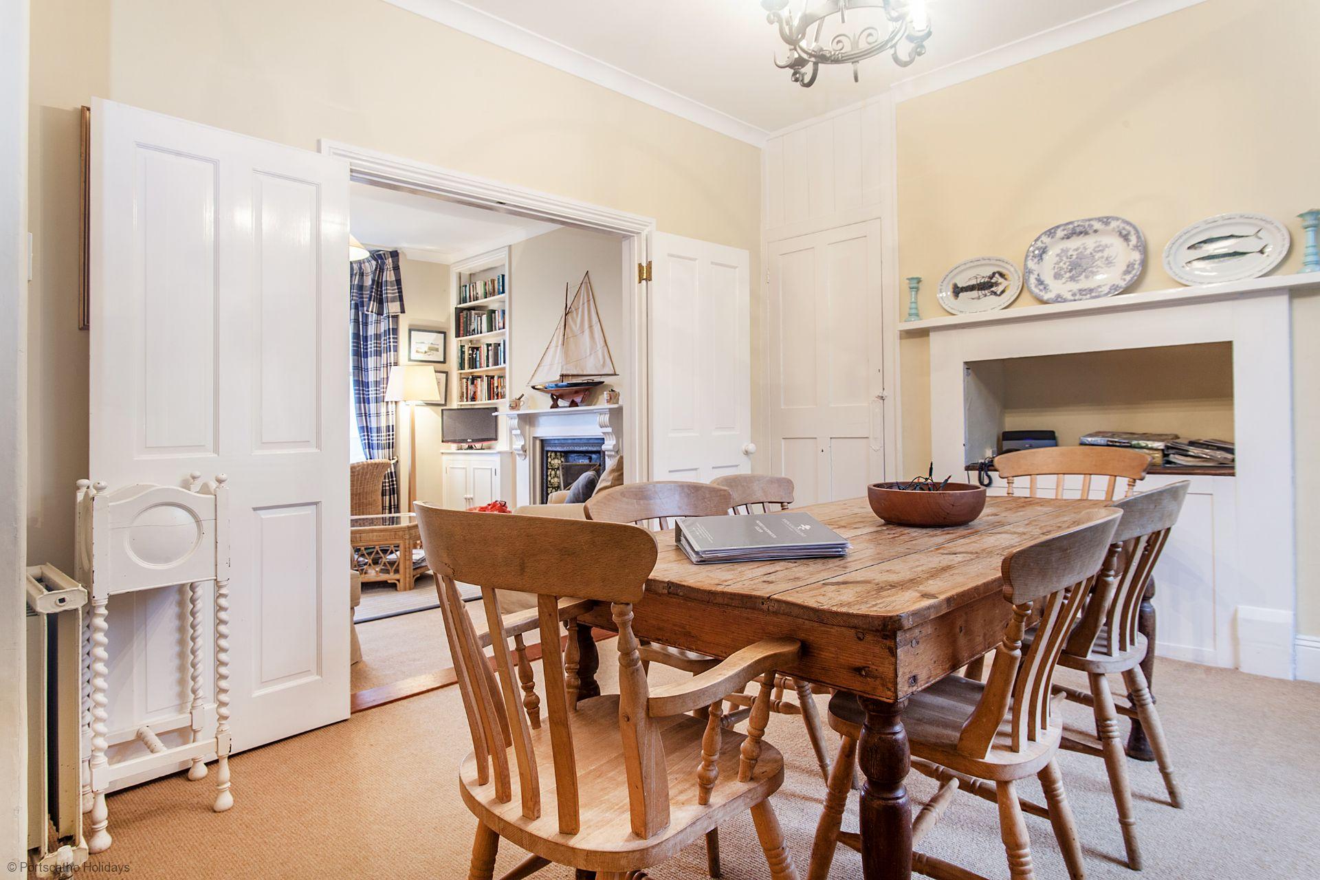Trevellas; Portscatho;  Dinning Room