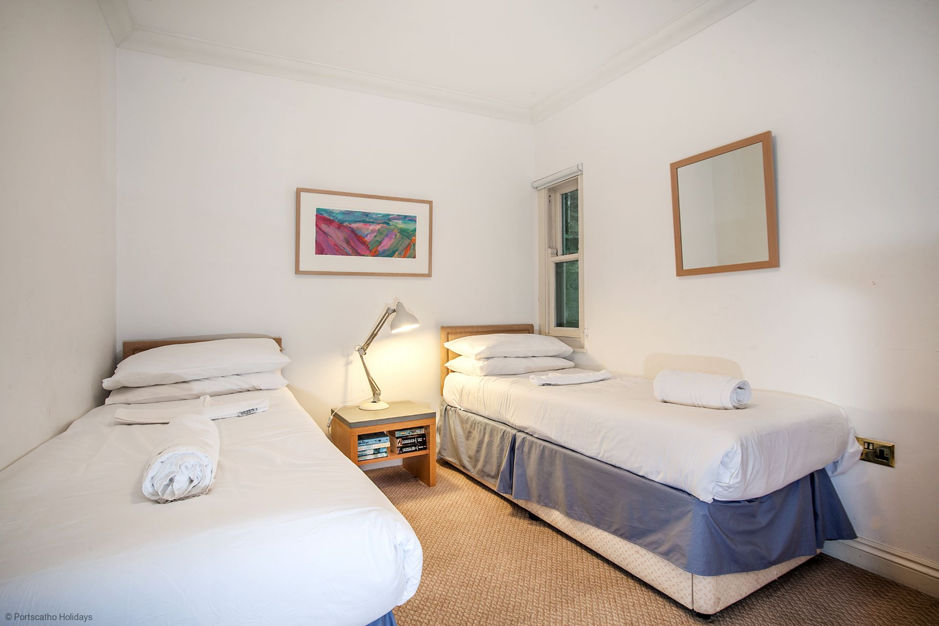 6 Spinnakers; Wentworth House; St Mawes; Twin Bedroom