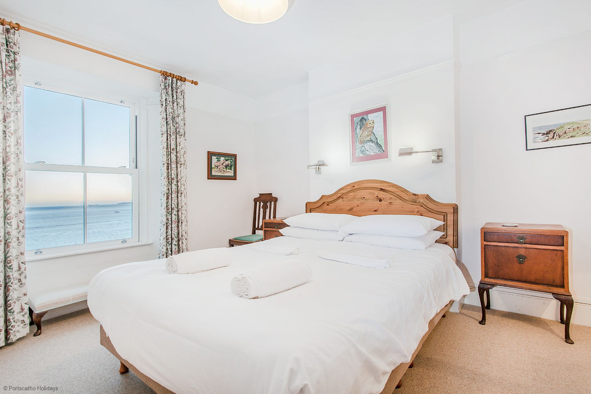 Captains Cottage; St Mawes; First Floor Double Bedroom