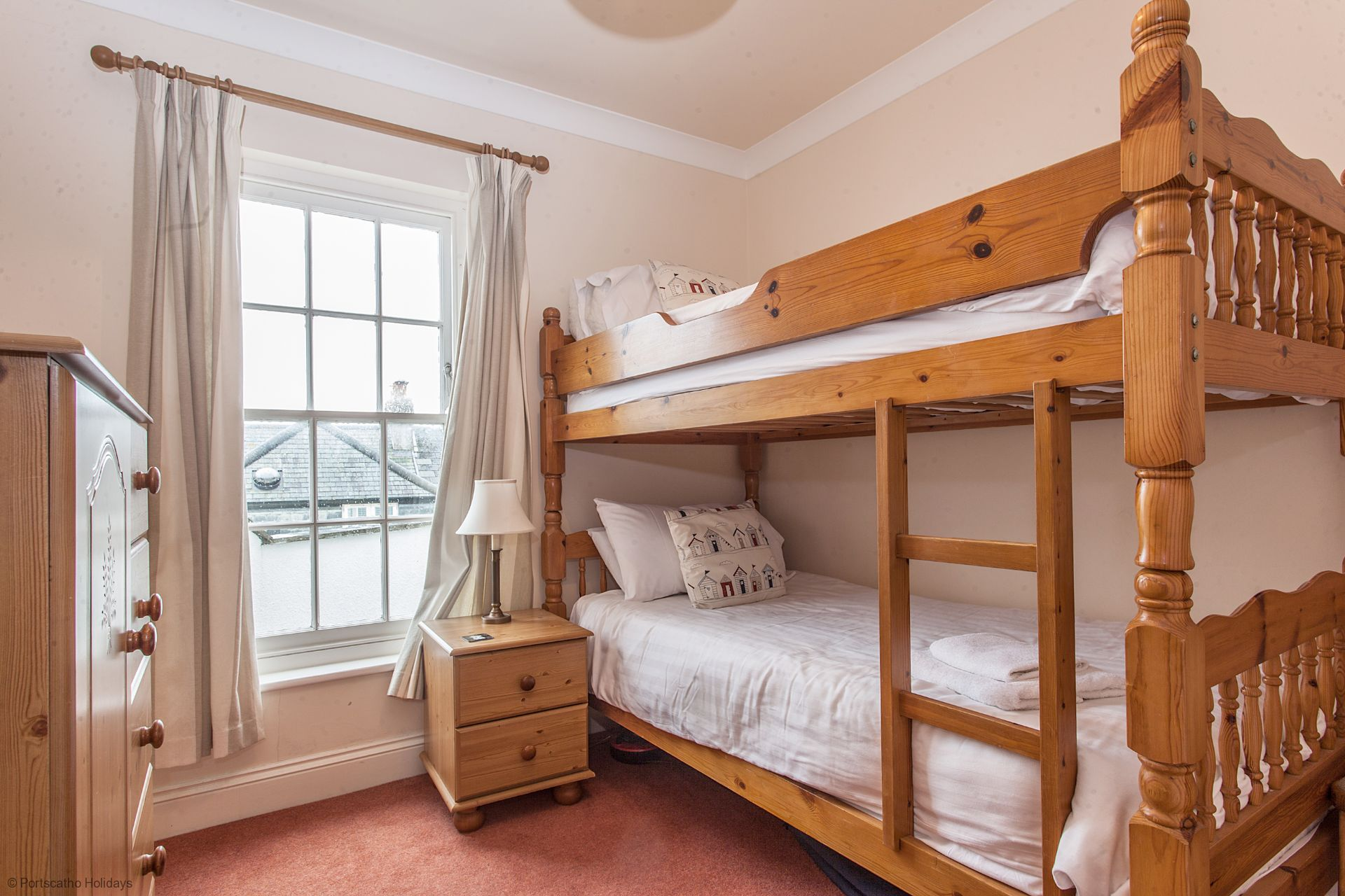 Sea View; St. Mawes; Cornwall; Bunk Bed Room