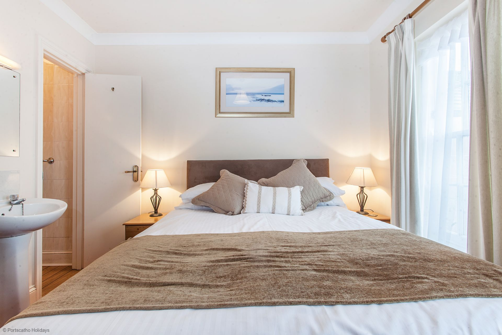 Sea View; St. Mawes; Cornwall; Master Double Bedroom II