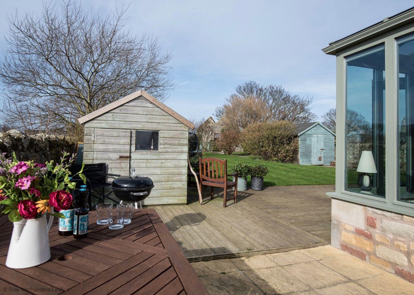 Sunny enclosed rear garden