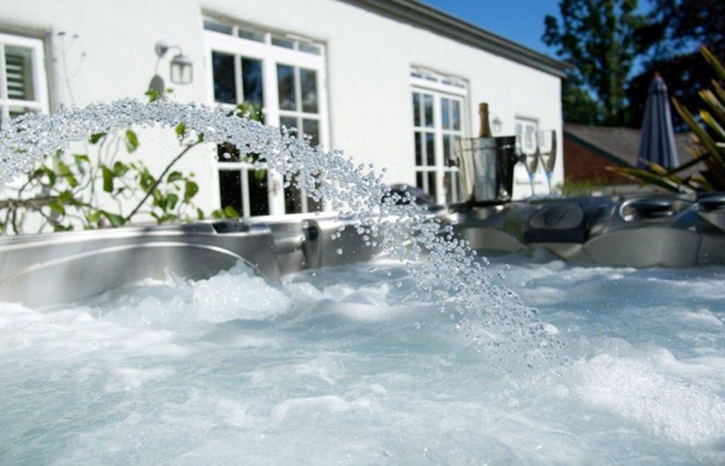 Burrows' heated private hot tub is the perfect place to unwind