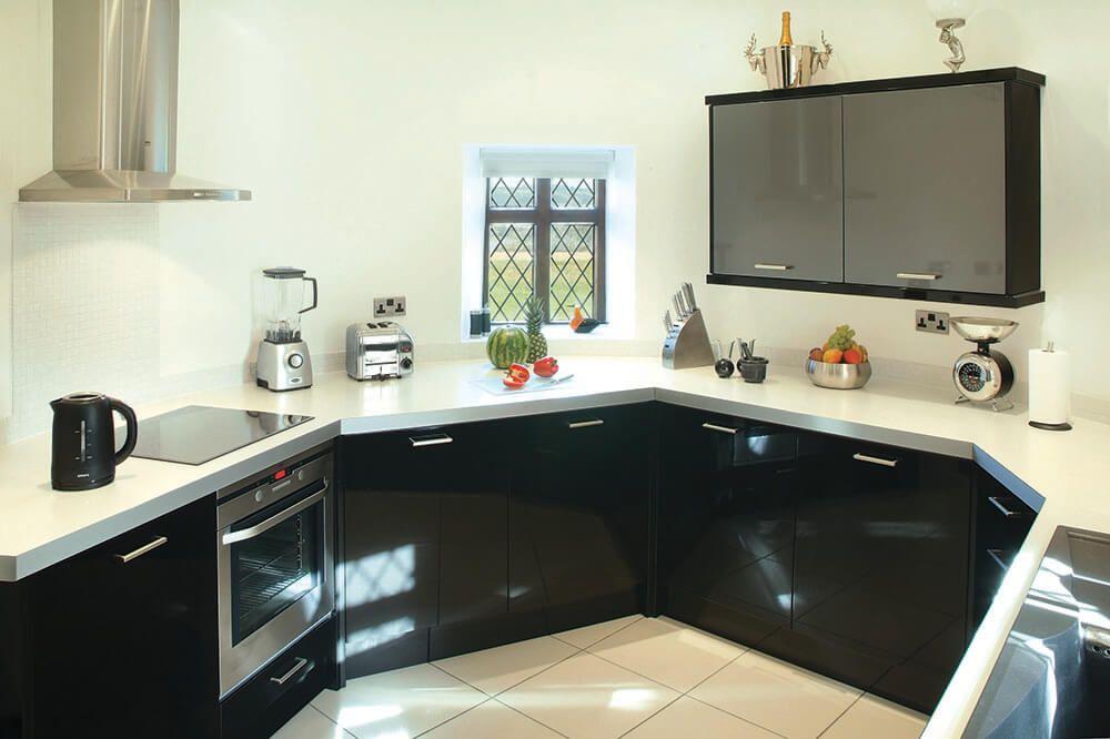 Ground floor: Circular contemporary kitchen