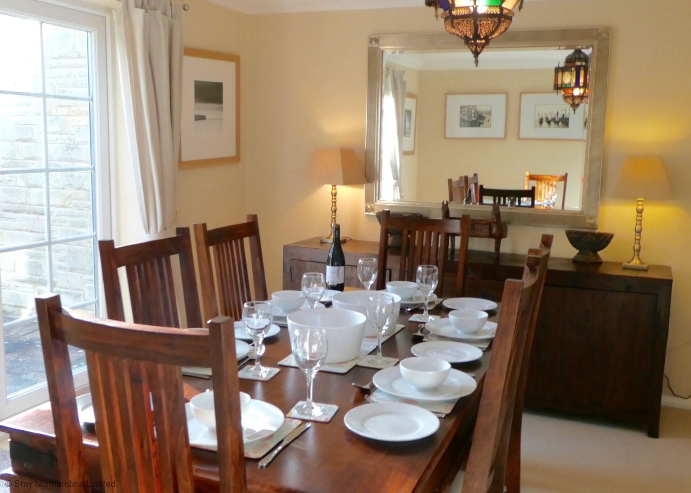 Dining Room with views into rear garden
