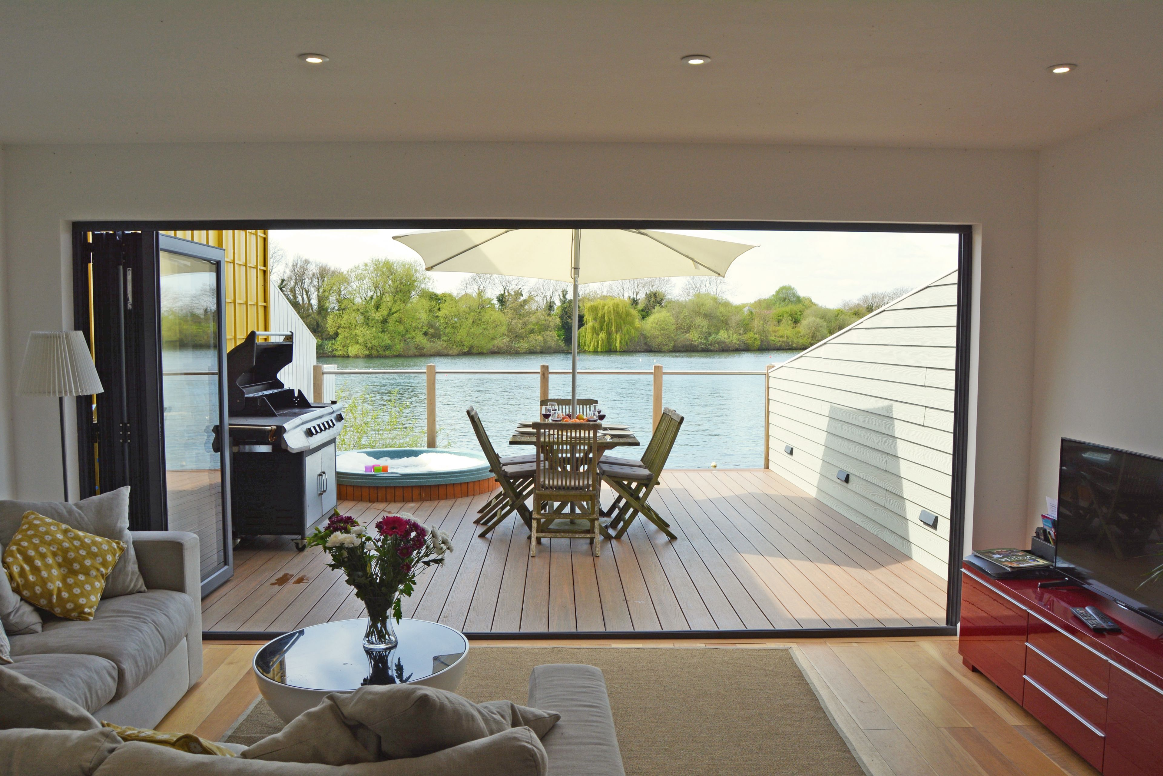Bifold doors ensure the house is filled with calm and tranquil light