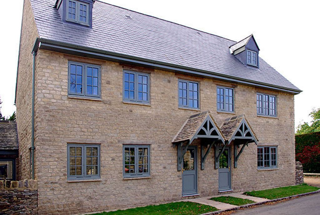 Beautifully appointed Ryeworth Cottage (left) adjoins Kite's Gate Cottage