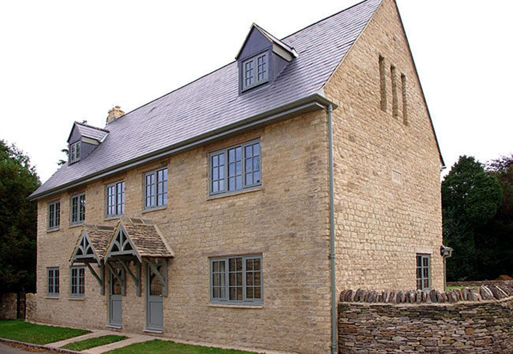 Beautifully appointed Kite's Gate Cottage (right) adjoins Ryeworth Cottage