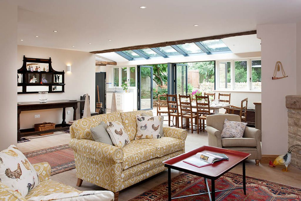 Ground floor: There's plenty of room to relax in the open plan living space with heated wood flooring