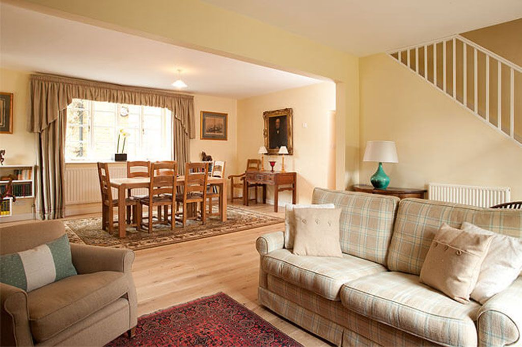Ground floor: Sitting and dining areas in the open plan living space