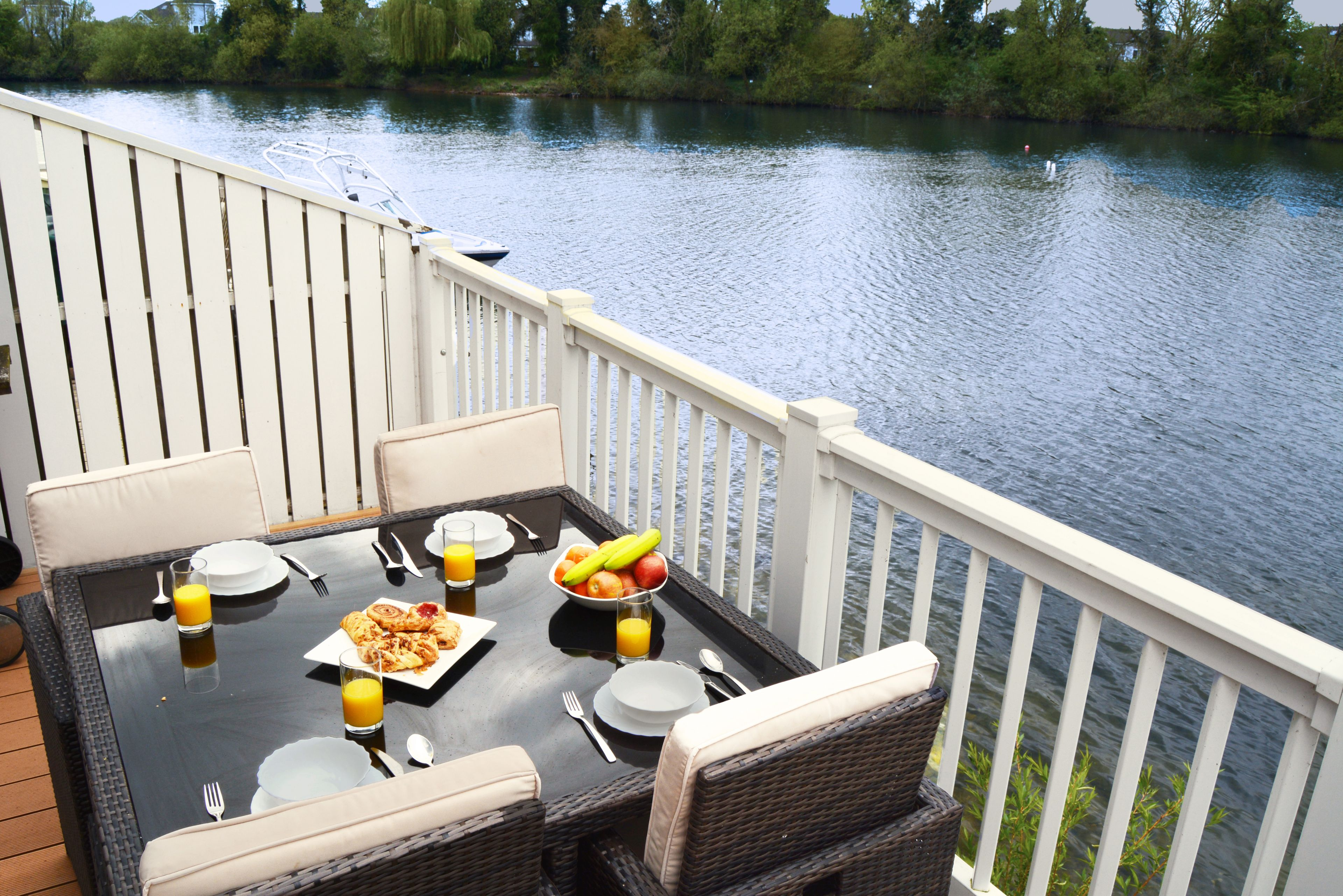 Simply sit back to enjoy lakeside life and watch the world go by
