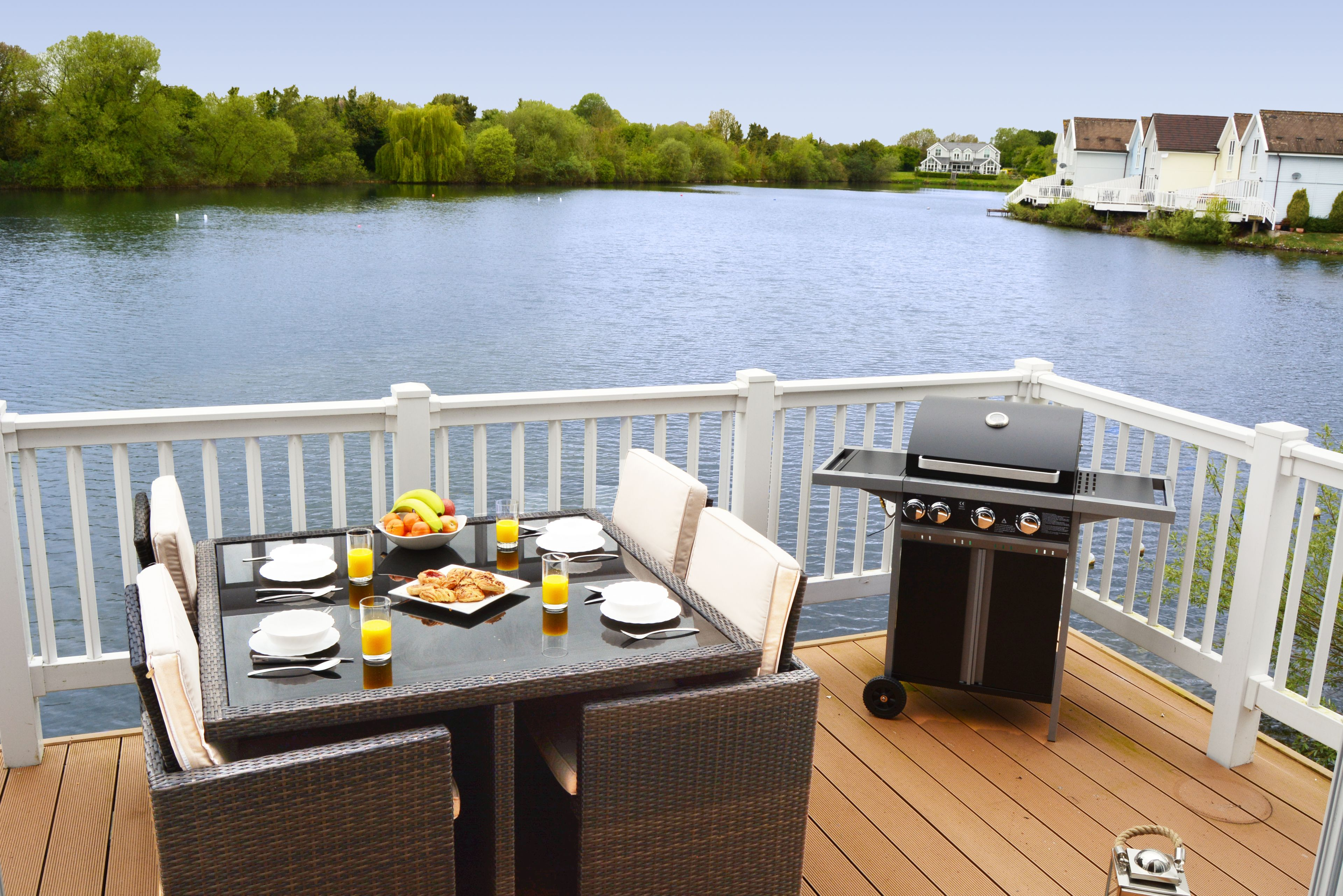 Your private secure deck is the perfect spot for sizzling steaks on the barbecue