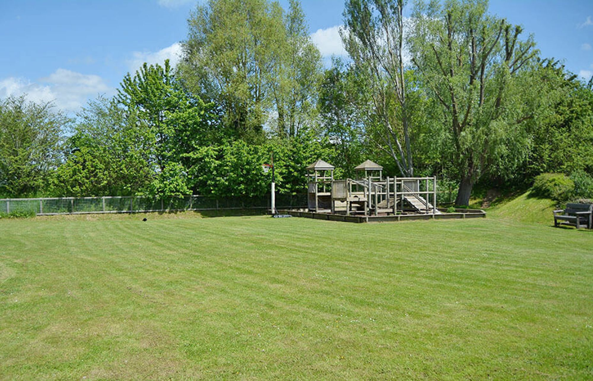 There is a large children's play area within 50 metres of the lake house