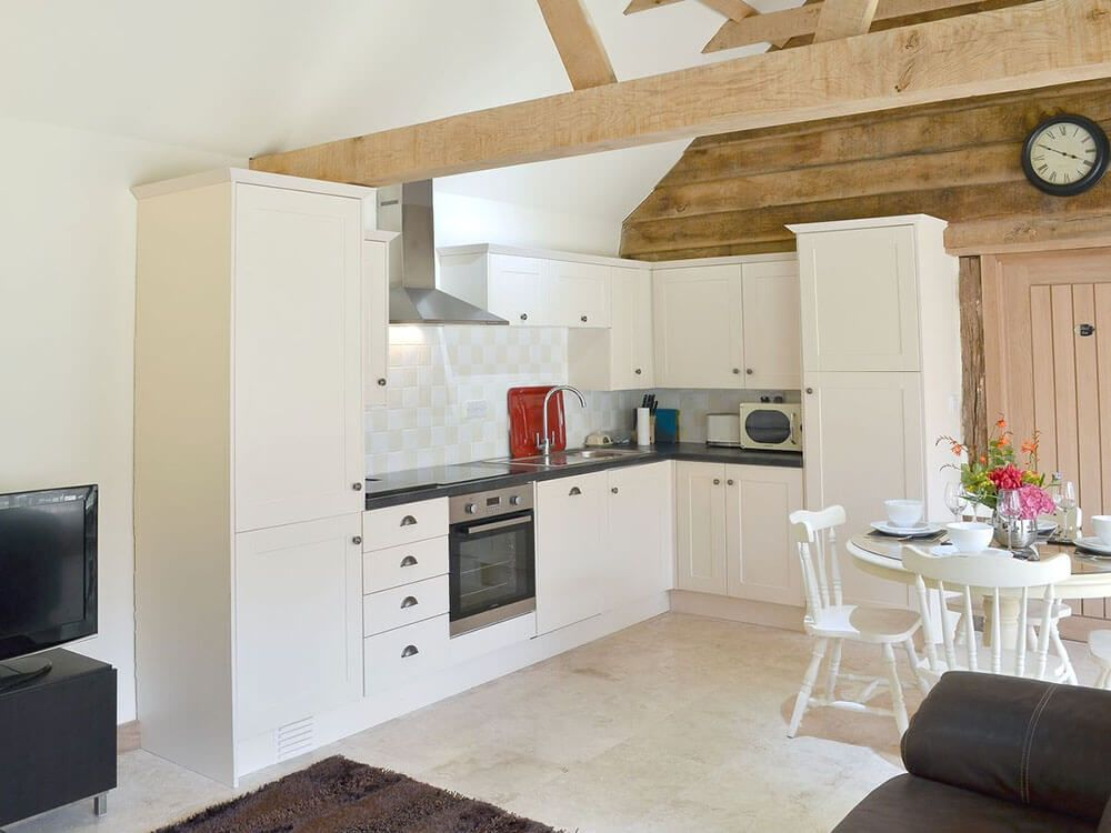 Kitchen area in the spacious open plan living space