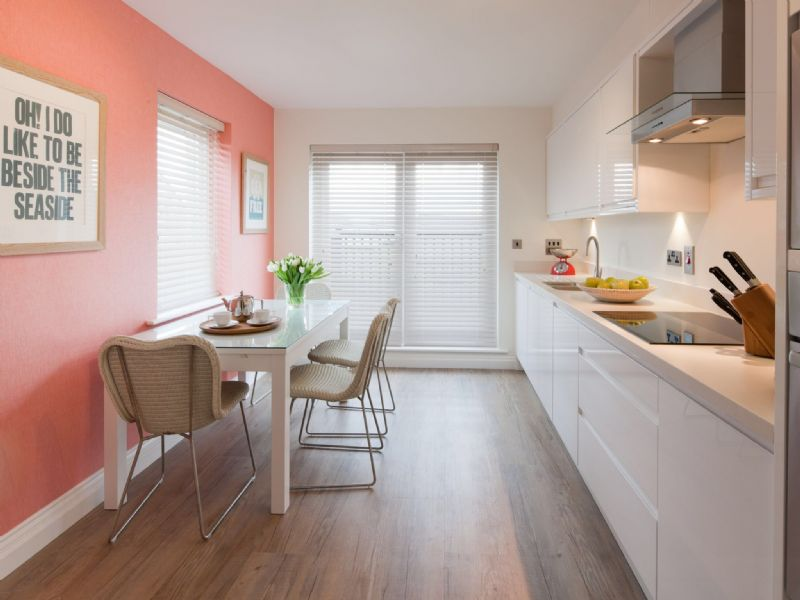 Sunny well equipped kitchen diner with South Westerly aspects