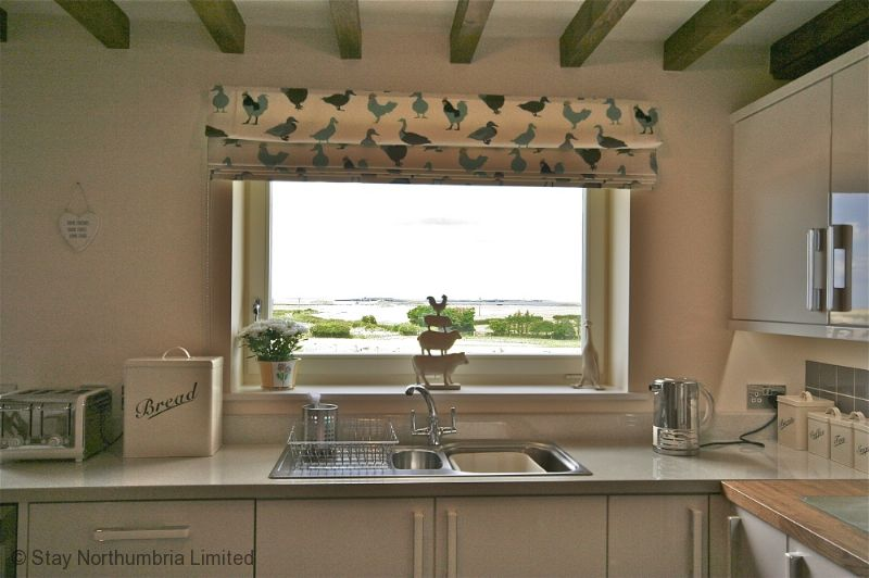 Kitchen sink with a view