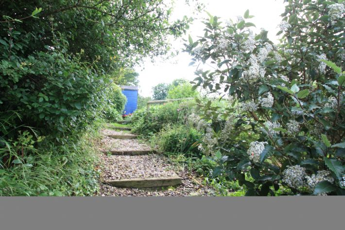 The path up to the garden terrace