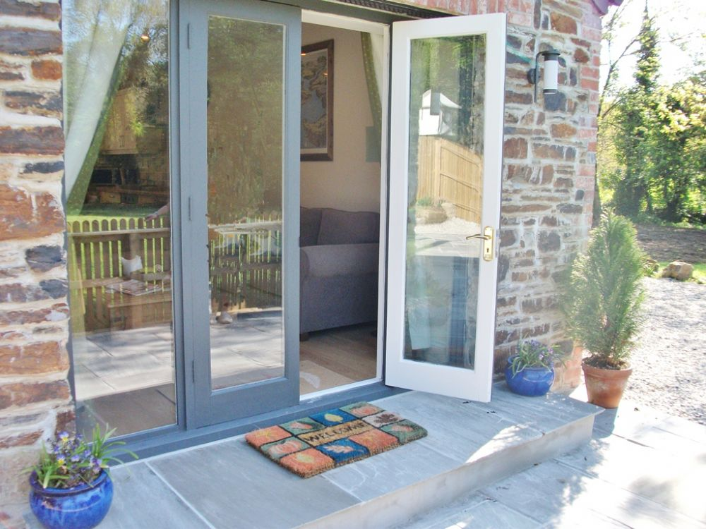 French Doors from sitting room onto patio