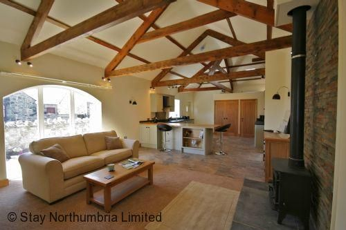 Steading Cottage's spacious open plan living area
