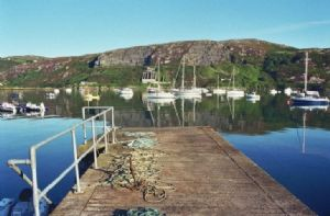 A jetty in the village