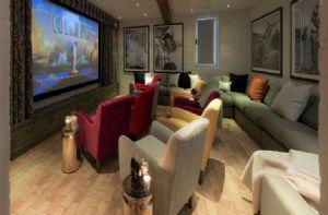 First floor:  Cinema room