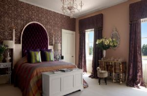 First floor:  One of the twelve elegant bedrooms