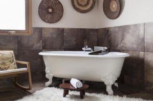 Bathroom with freestanding claw foot bath