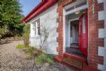 Welcoming front door - Comrie Village Cottage