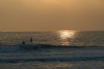 Sunset over the beach, near your North Wales holiday cottage