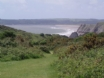 Self-Catering Cottage in Gower - View walking down to Pobbles Bay